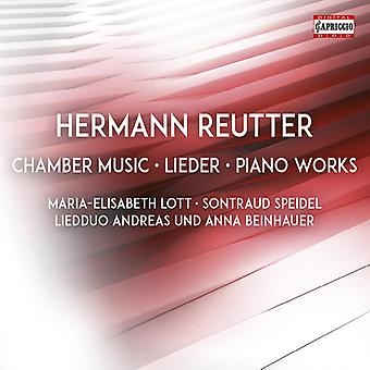 Reutter / Lott / Beinhauer - Chamber Music & Piano Works [CD] USA import