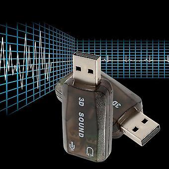 Usb2.0 Audio Headset Headphone Earphone Mic Microphone Jack Converter Adapter