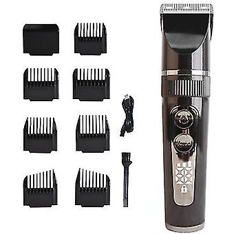 קווצץ שיער LED עמיד למים, גברים גוזמים חשמליים חיתוך גילוח זקן אלחוטי (שחור)