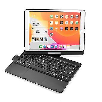 Kablosuz bluetooth klavye, ipad 8 10.2 inç (Siyah) için arka ışıkla 360 derece döndürülebilir
