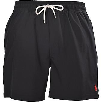 פולו ראלף לורן הנוסע מכנסיים קצרים, פולו שחור W/אדום