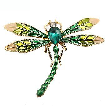 Brosche Pin Libelle Corsage gemalt Legierung Damen Brosche grün