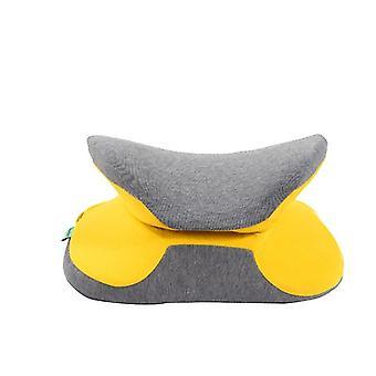 Foldable Nap Pillow Sleeping Mat Chair Back & Lumbar Support Cushions(38*33*15cm)(Yellow)
