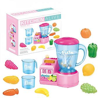 Toy Kitchen Play Food Children Play House Toy Simulation Smart Juice Machine Set Christmas Gift