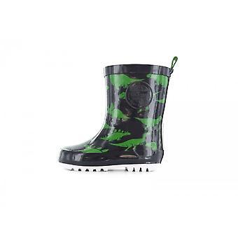 SHOESME Dino Rainboot & Fleece Sock Wellington