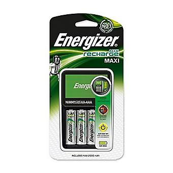 Charger + Rechargeable Batteries Energizer 635043 AA AAA 2000 mAh HR6 (4 uds)