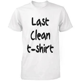 メンズ最後きれいな t シャツ面白いグラフィック t シャツの白綿 t シャツ