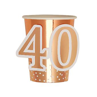 Rose Gold Birthday - Cup - Age 40