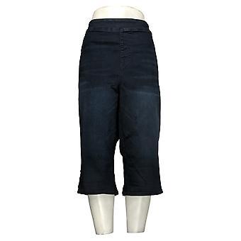 DG2 Door Diane Gilman Dames Plus Jeans FLEX Denim Pedal Pusher Blue 741935