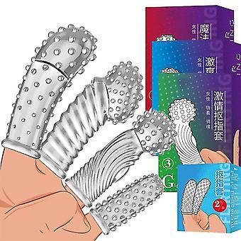 Finger Vibrator G-spot Massage Silicone Adult Masturbation Sexual Stimulation Massage Exotic Accessories Female Vibrator Toy