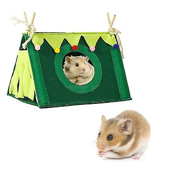 Small Pet Nest Rabbit Felt Tent Hamster Hideout House Guinea Pig Cage Chinchillas Bed Animal Tunnel