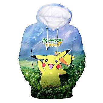 Pokemon Pikachu Anime Print 3d Men & Women Hoodie