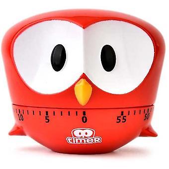 Temporizador de maquinaria 60 minutos Cocina mecánica Temporizadores de cocina Reloj Fuerte Contadores de alarma Contadores Temporizador manual Utensilio de cocina (rojo)
