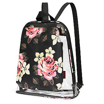 Clear Bag Backpack Heavy Duty Transparent Backpack See Through Backpack,black