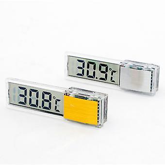 Akvárium akvárium akvárium akvárium hőmérő, LCD kijelző mérőasztal 2 db (ezüst + arany)