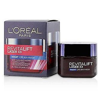 L'oreal Revitalift Laser X3 New Skin Anti Aging Night Cream-Mask - 50ml/1.7oz