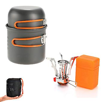 Camping Cookware Set Package Outdoor Portable Picnic Stove Cookware Equipment