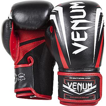 Venum Sharp Nappa Leather Boxing Gloves - Black/Ice/Red