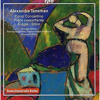 A. Tansman - Alexandre Tansman: Piano Concertino; Piece Concertante; Elegie [CD] USA import