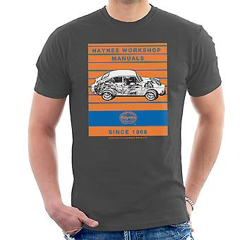 Haynes Workshop Manual 0084 VW 1600 Fastback Stripe Men's T-Shirt