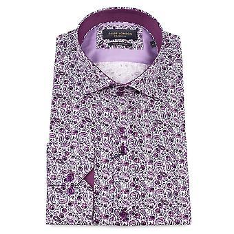 Gids Londen Delicate Paisley Print Shirt van de Mens