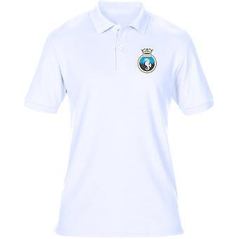 HMS Leeds Castle Stickerei Logo - offizielle königliche Marine Herren Polo-Shirt