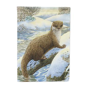 Carolines Treasures  ASA2050CHF Otter on the bank Flag Canvas House Size