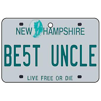 New Hampshire - beste Onkel License Plate Auto Lufterfrischer