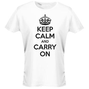 Hålla lugn och bära på Womens T-Shirt 8 färger (8-20) av swagwear