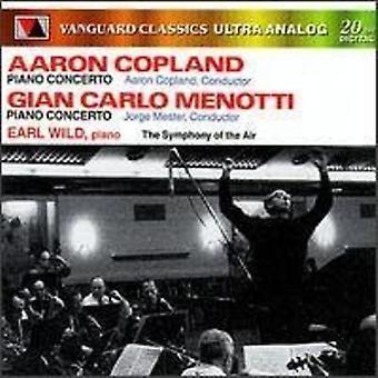 Copland, Aaron / Menotti, Gian Carlo / Wild, Earl - Symphony of the Air [CD] USA import