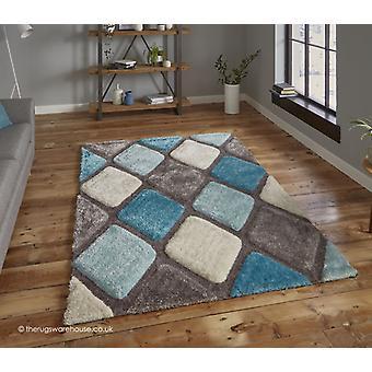 Melio grijs blauw tapijt