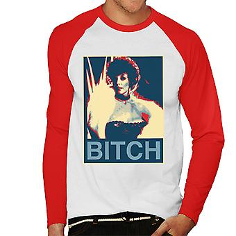 Joan Collins Dynasty Poster Style Print Men's Baseball Long Sleeved T-Shirt