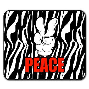 Peace Sign Cool Fashion  Non-Slip Mouse Mat Pad 24cm x 20cm | Wellcoda