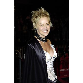 Sharon Stone na estreia de oceanos doze em Los Angeles celebridade de 8 de dezembro de 2004