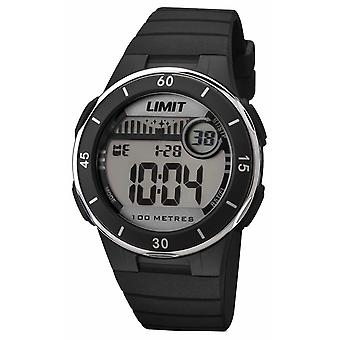 Limite Unisexe Bracelet noir cadran numérique 5556.24 Watch