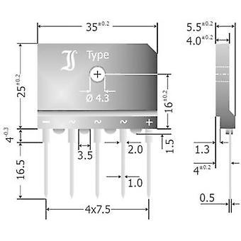 Diotec DBI25-04A גשר דיודות 5 400 V 25 A 3 שלב
