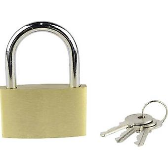 Brüder Mannesmann 413-50 Padlock 50 mm Gold yellow Key