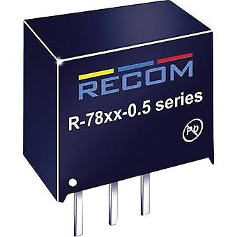 RECOM R-789.0-0.5 DC/DC omvandlare (tryck) 9 V DC 0,5 A 4,5 W nej. av utgångar: 1 x
