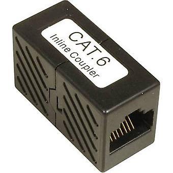EFB Elektronik RJ45 Networks Adapter CAT 6 [1x RJ45 socket - 1x RJ45 socket] Zwart