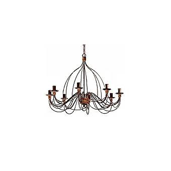 Ideale Lux Corte 8 lamp hanger licht Ruggine