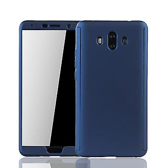 Huawei Mate 10 Phone Case Protection Case Full Cover Tank Protection Glass Blue