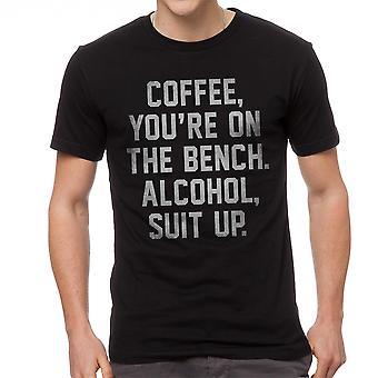 Café, que vous êtes sur le banc alcool costume masculin Graphic T-shirt noir