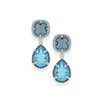 Blue earrings with crystals from Swarovski 4664
