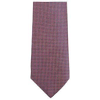 Knightsbridge dassen kleine patroon stropdas - roze/zwart