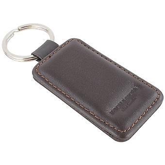 Byron and Brown Nappa Leather Rectangular Key Fob - Brown