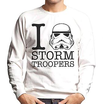Original Stormtrooper I Heart Troopers Herren Sweatshirt