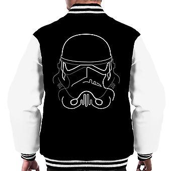 Originele Stormtrooper Line Art silhouet mannen Varsity Jacket