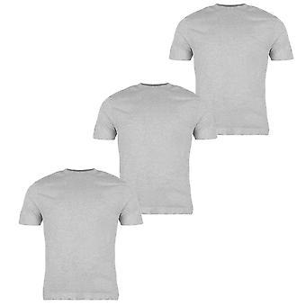 Donnay 3 Pack T Shirt Tee Top korte mouwen en lage kraag Casual herenmode