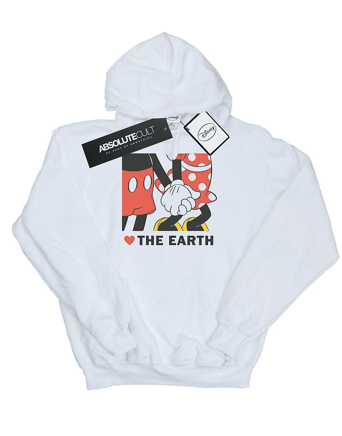 Disney Men's Mickey Mouse Heart The Earth Hoodie