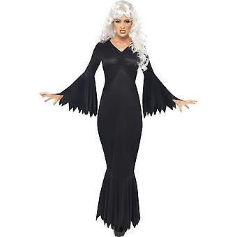 Middernacht Vamp kostuum, UK jurk 20-22